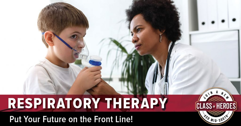 Respiratory Therapist working with a patient