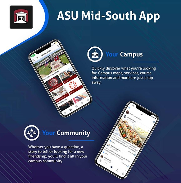 ASU Mid-South Mobile App Graphic Square